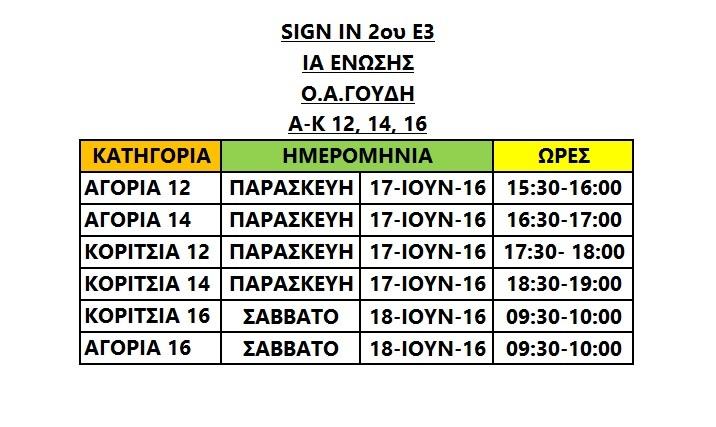 Sign In 2ου Ε3